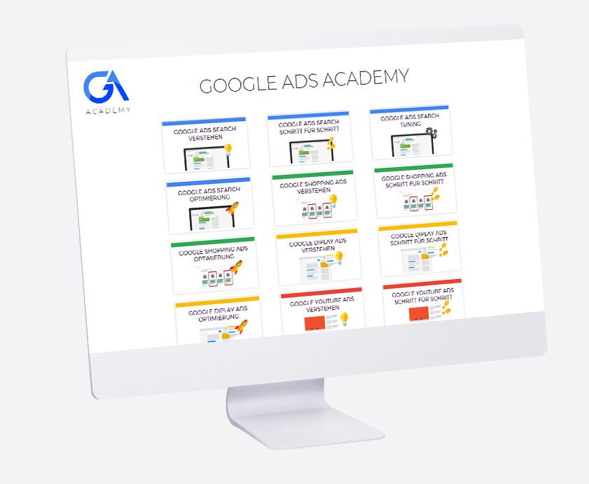desktop mit ga-academy memberbereich