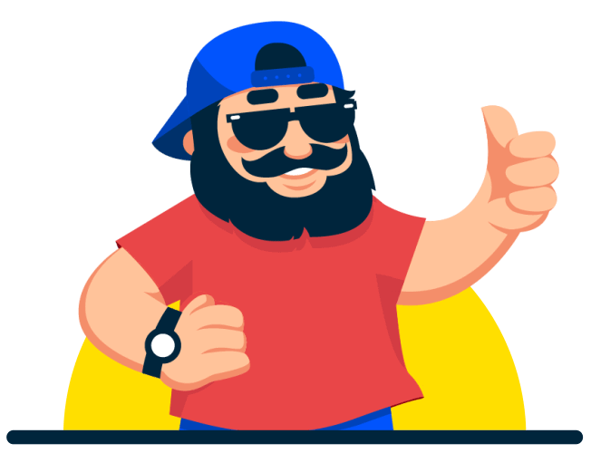 Shipdaddy giving thumbs up