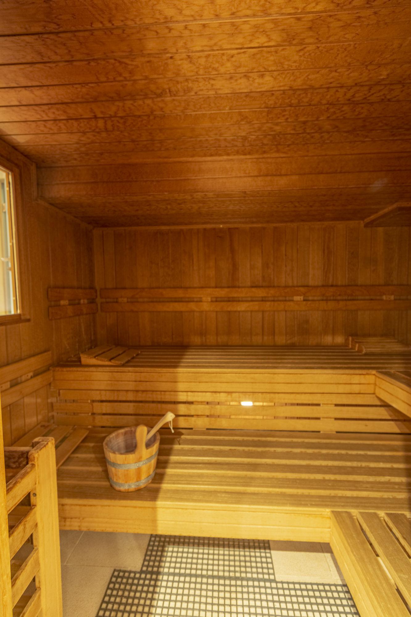 Innenbereich unserer finnischen Sauna