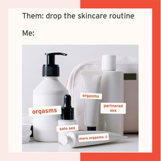 meme about dropping skincare