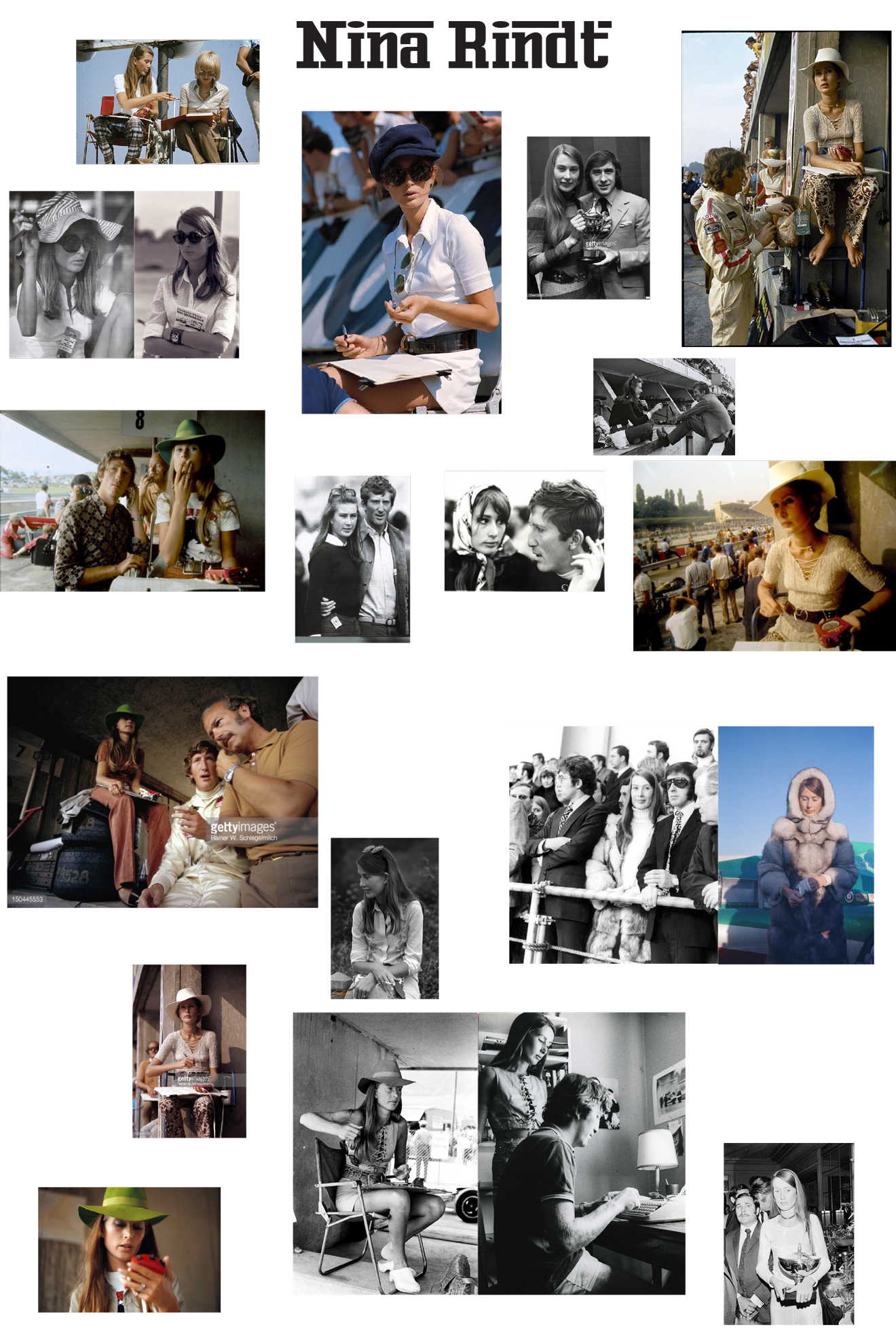 Moodboard of Nina Rindt Style Inspiration Images