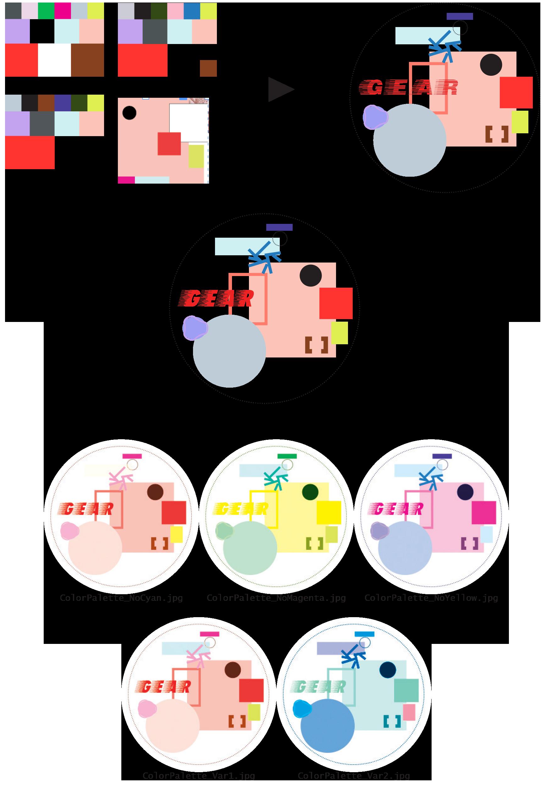development of the color palette