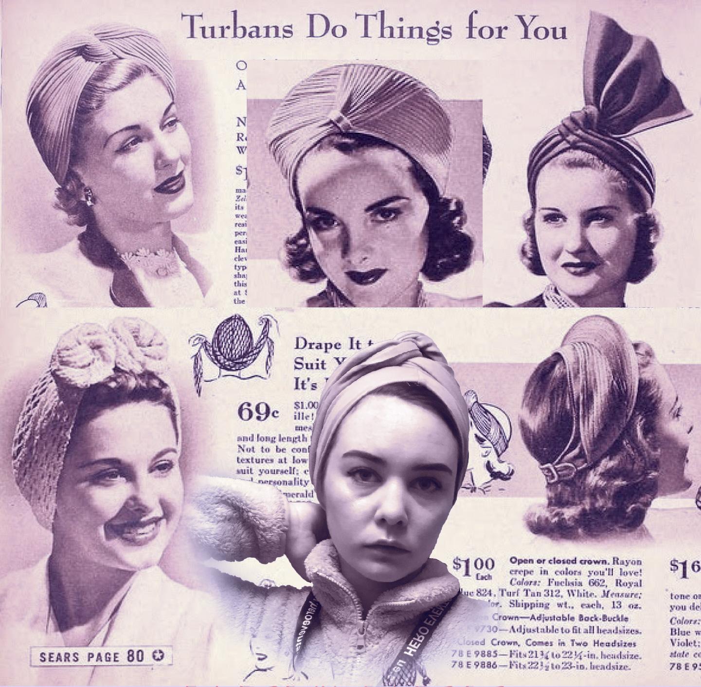 vintage turban-hat inspiration