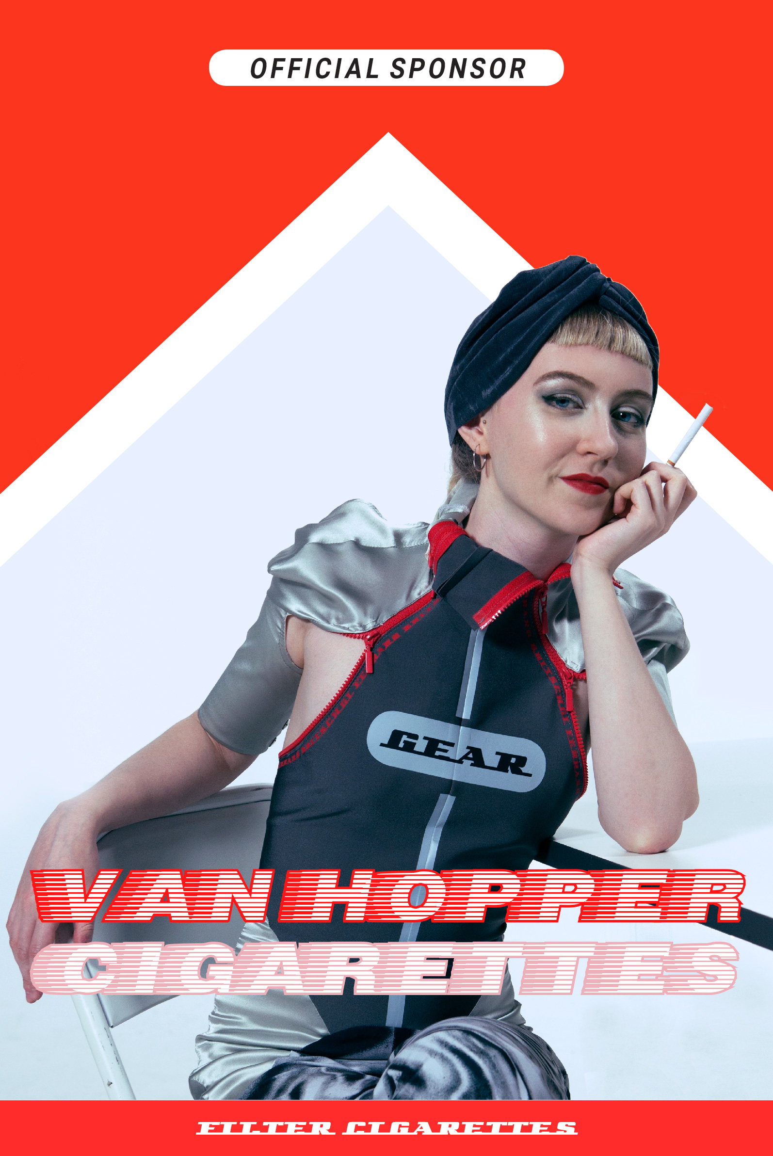Van Hopper cigarettes, official sponsor fake advertising