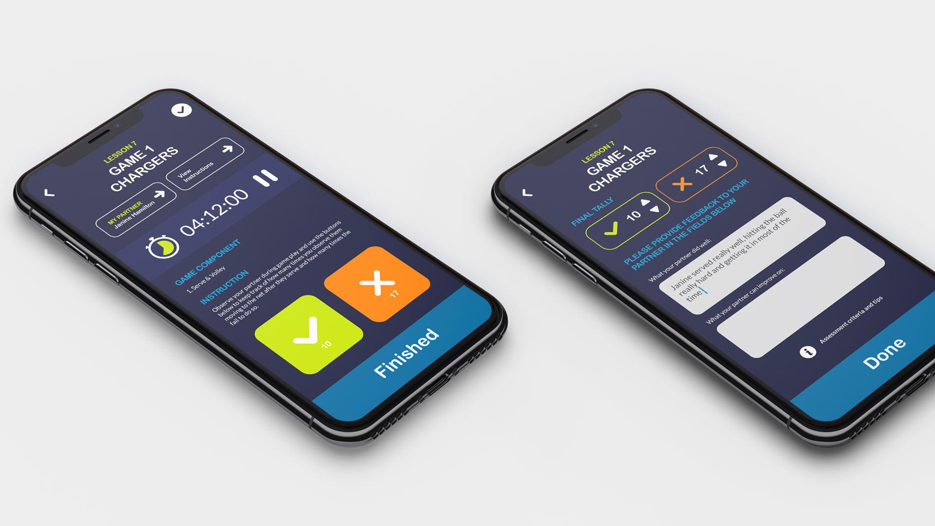 Sports app development and design