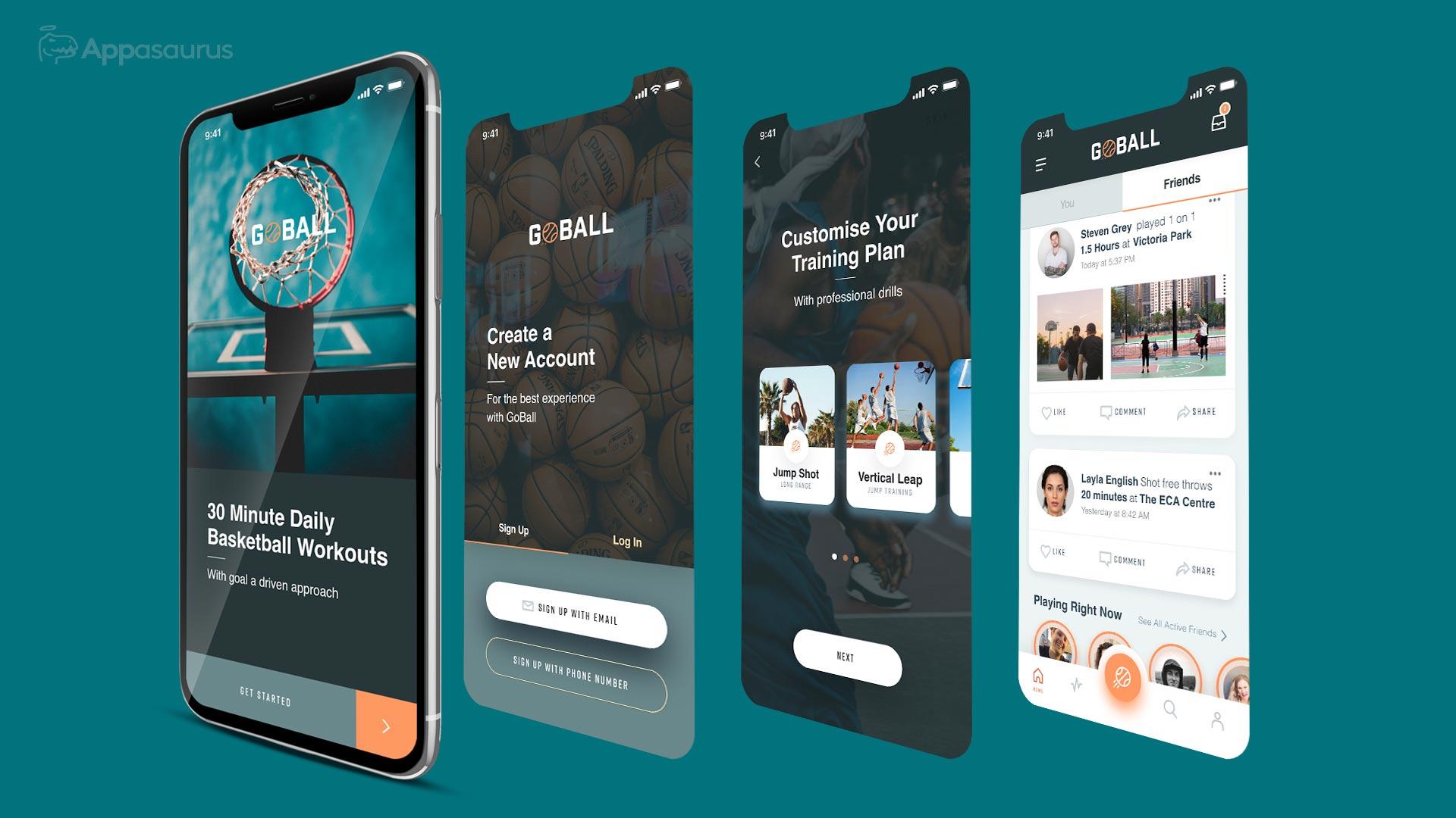 Training app development and design