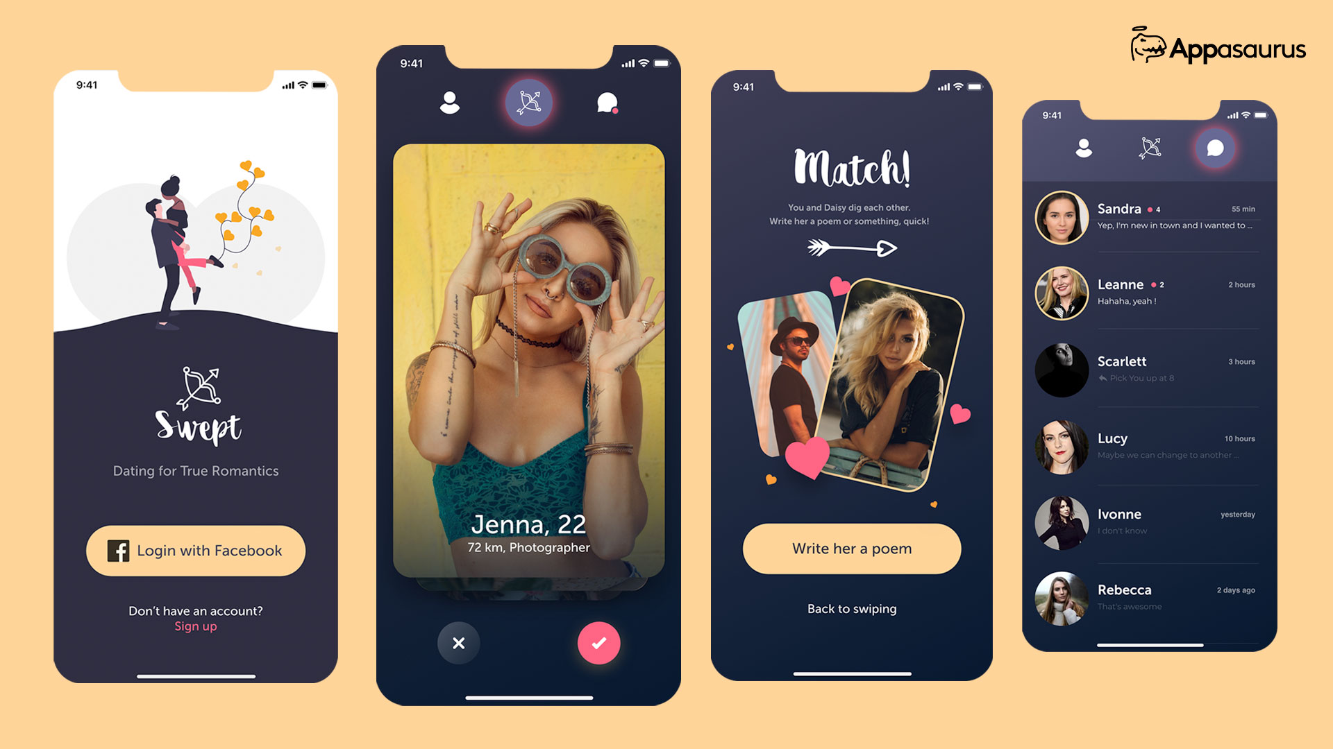 Dating app development and design