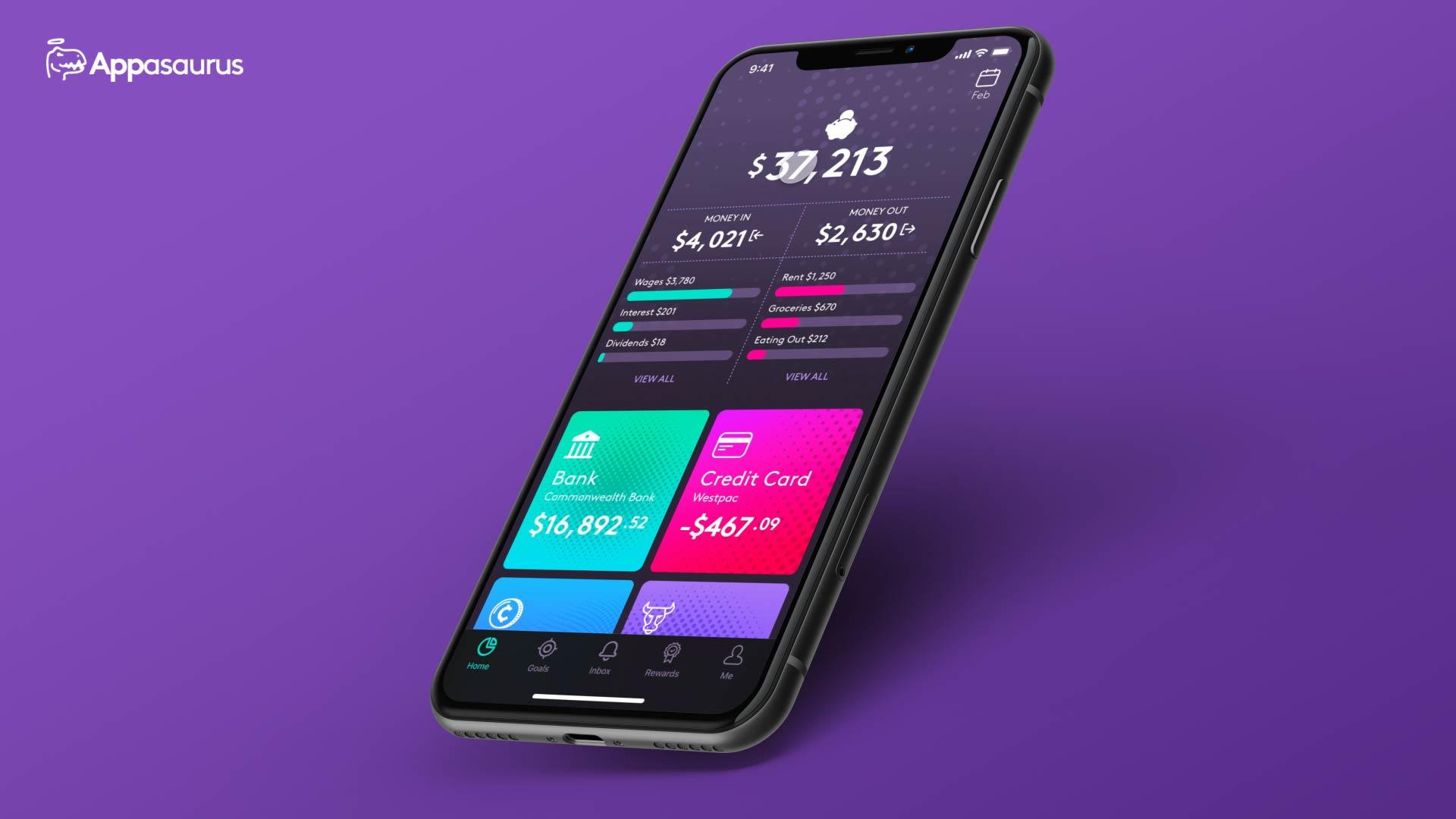 Finance app development and design