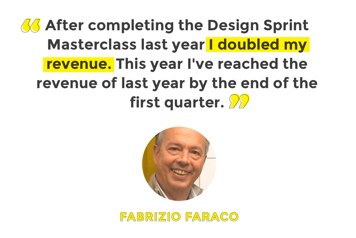 Doubling the revenue with the Design Sprint