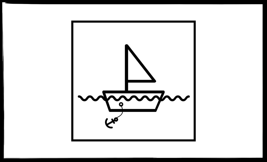 Sailboat exercise step 1: drawing the sailboat