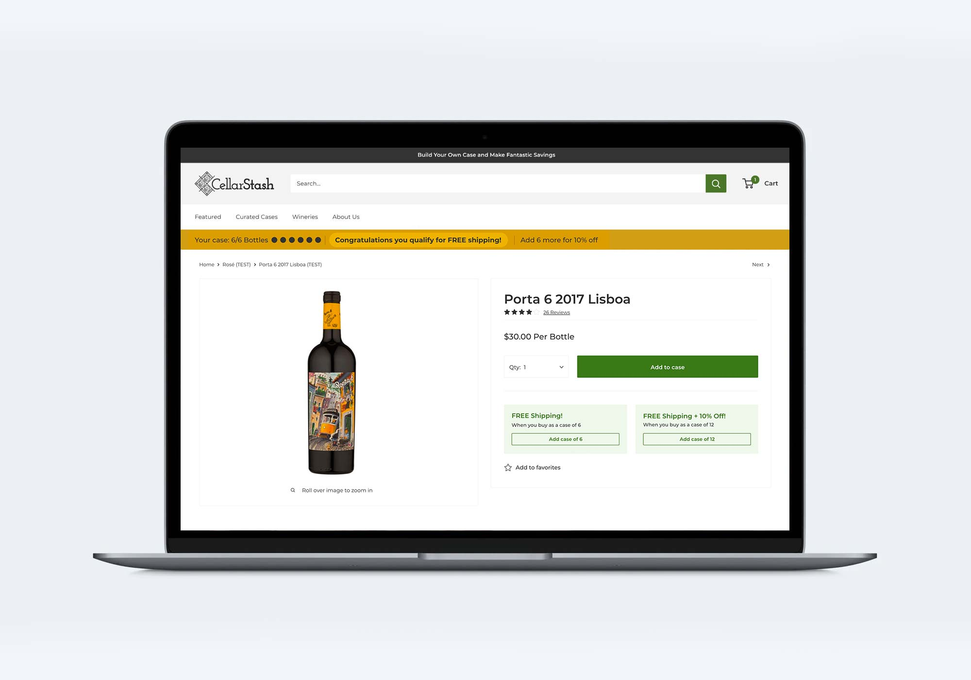 Users were given the opportunity to build cases of the same wine with 1 simple click!