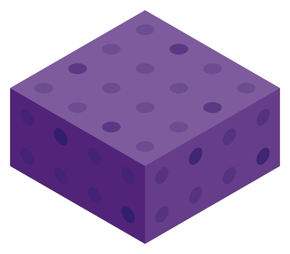 Purple Color Block Boxes