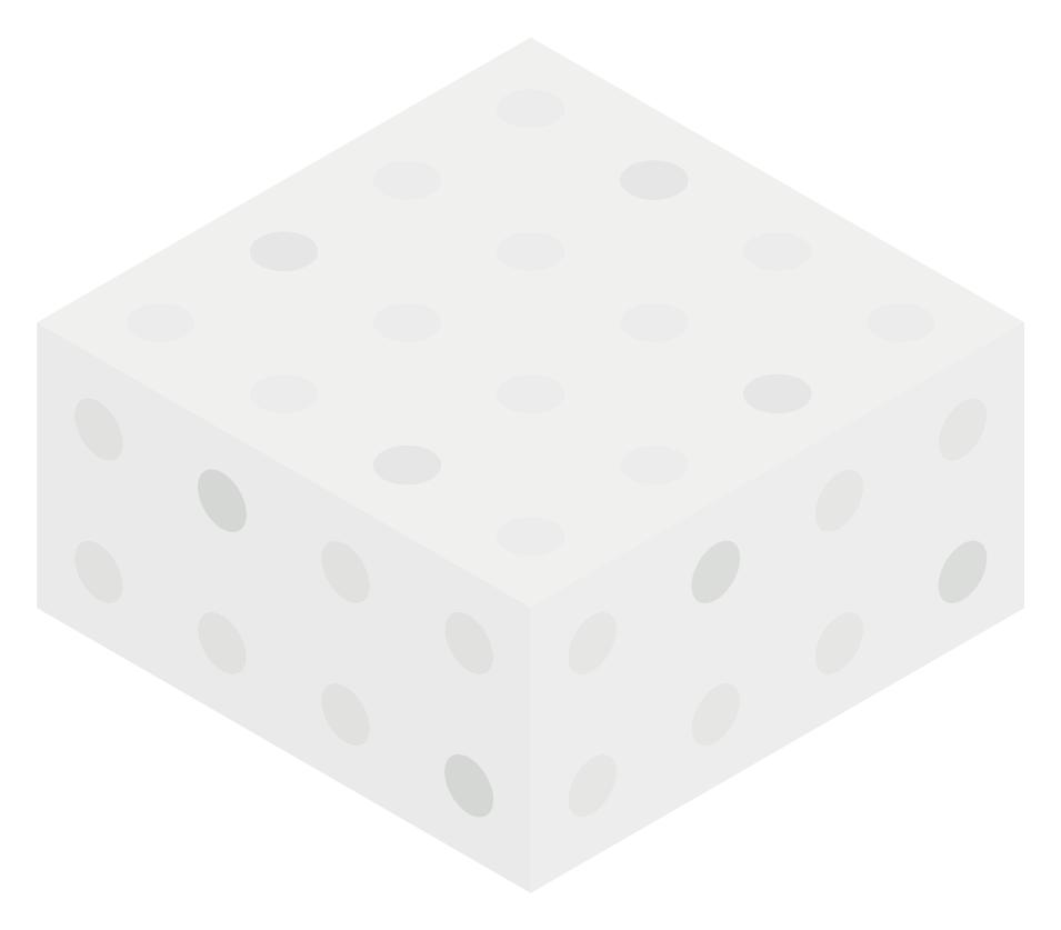 White Color Block Boxes