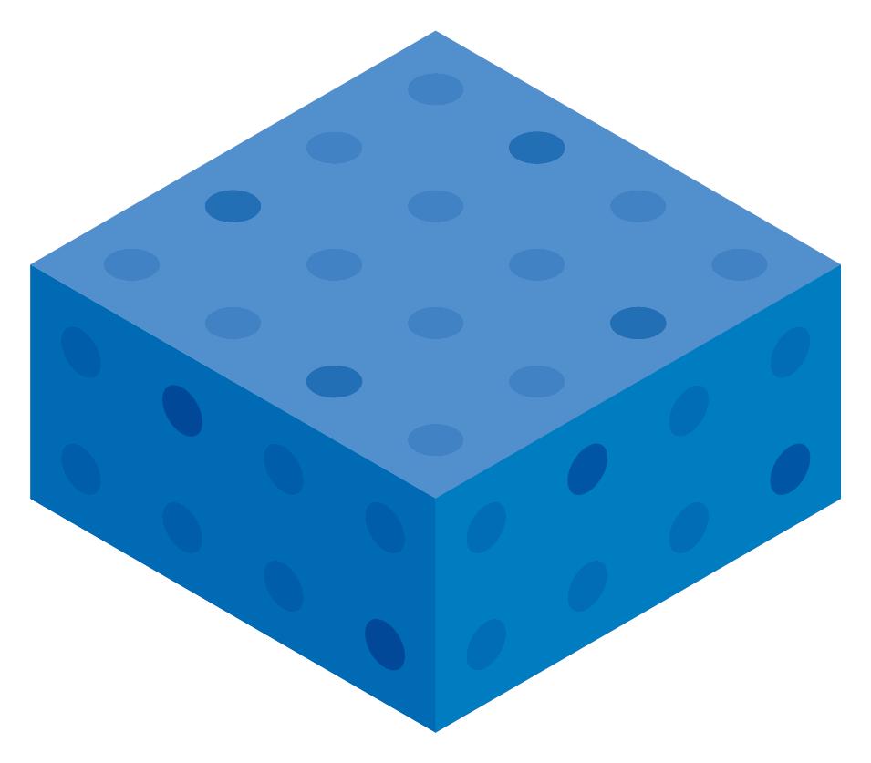 Blue Color Block Boxes