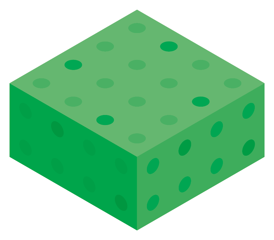 Green Color Block Boxes