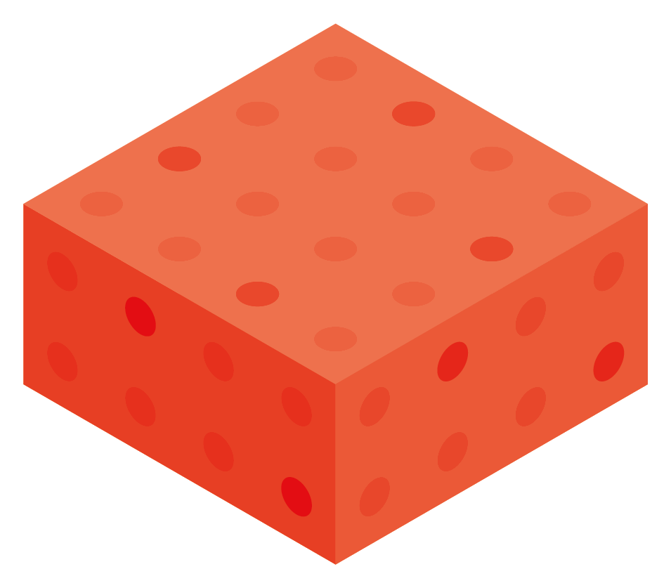 Red Color Block Boxes