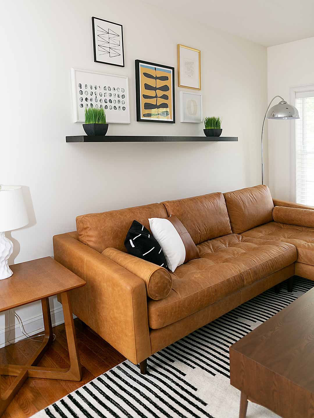 Neat and clean Scandinavian styled living room