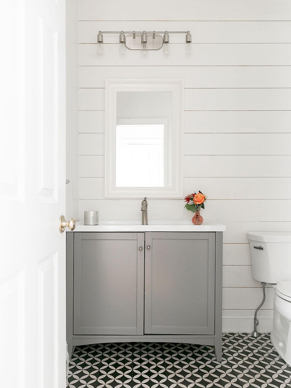 Modern and minimalist bathroom freshly cleaned