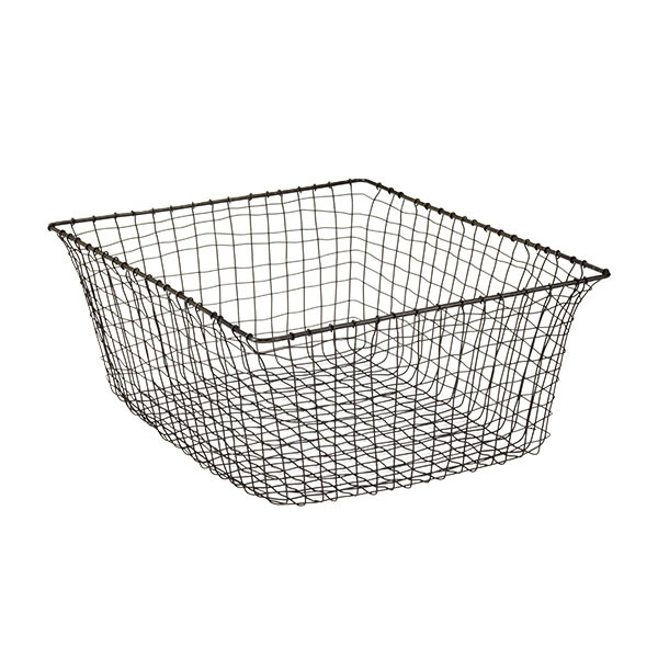 Bronze colored wire grid basket