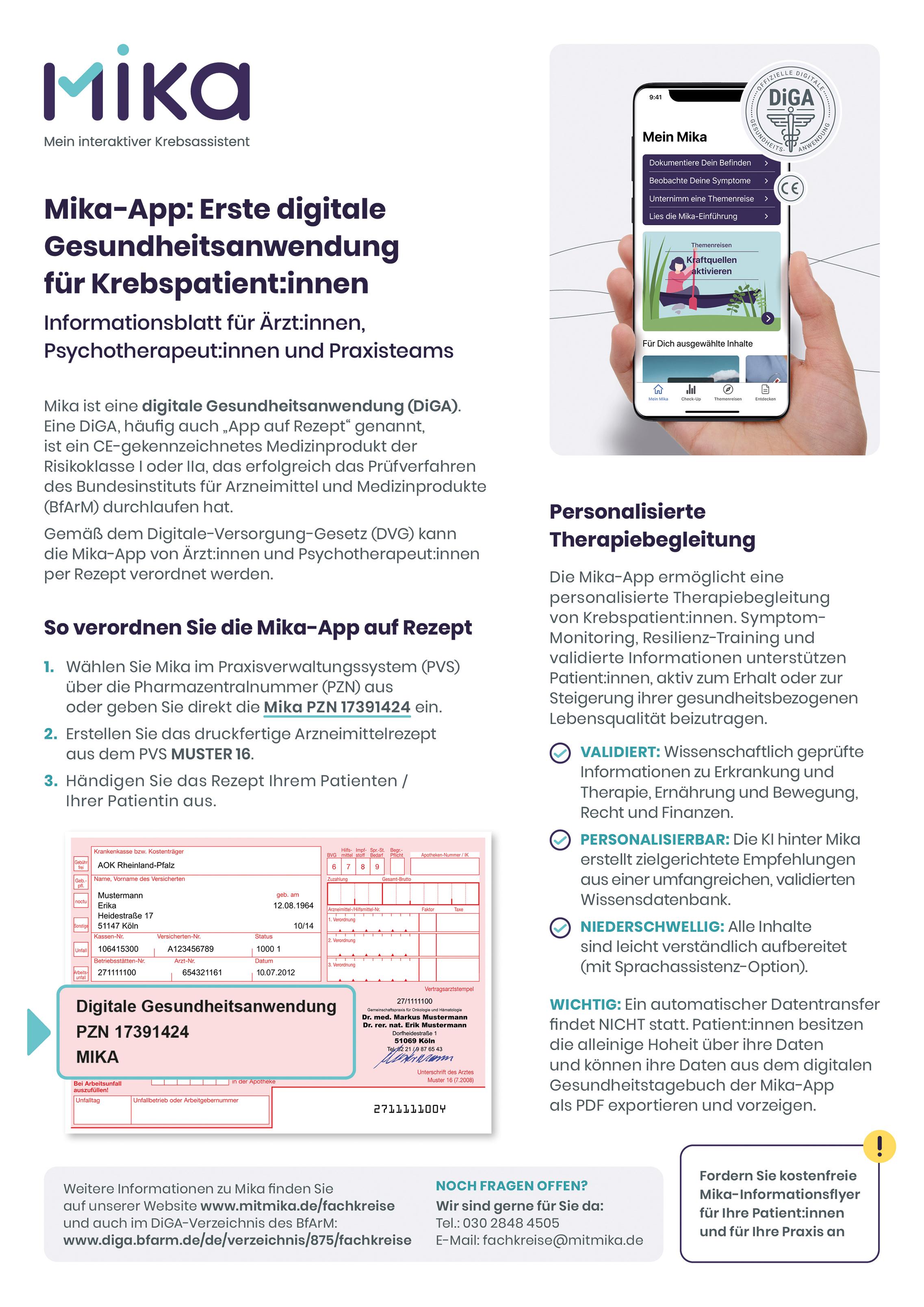 Infoblatt für die Arztpraxis