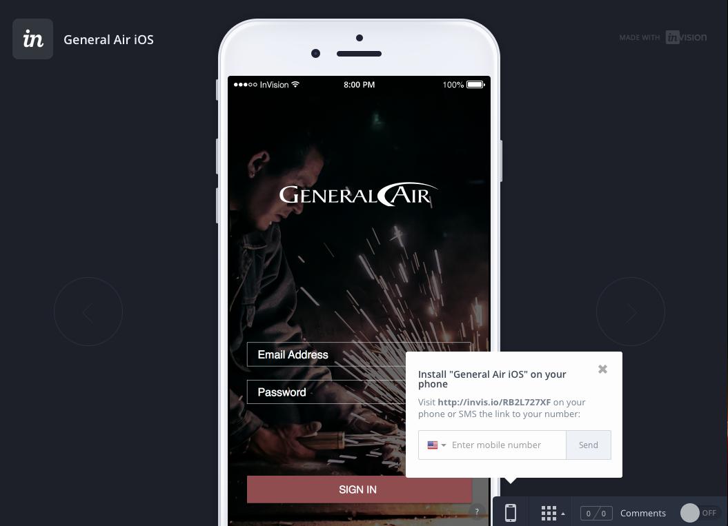 Enter Phone Number Screenshot