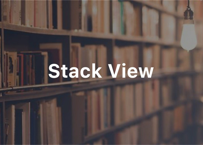Stack View Text on office image