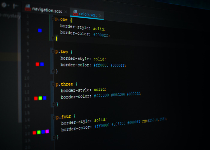 CSS on a computer
