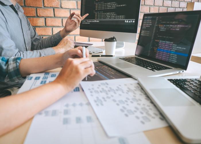 software developers working at desk