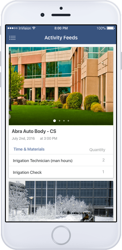 FieldVision Mobile App Activity Feeds