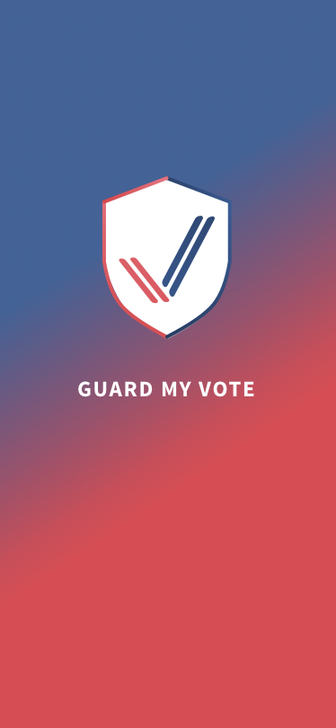 Guard My Vote Mobile App Home Page