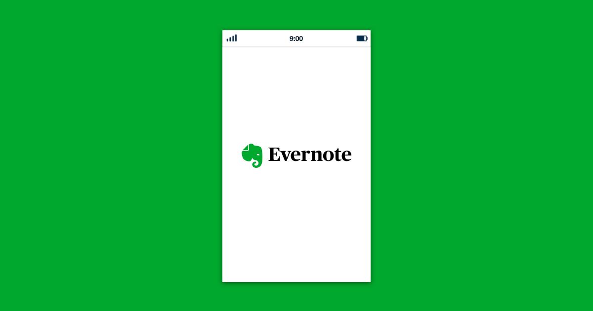 Evernote hybrid application
