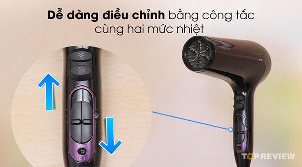 HP8233 2000W dễ dàng sử dụng