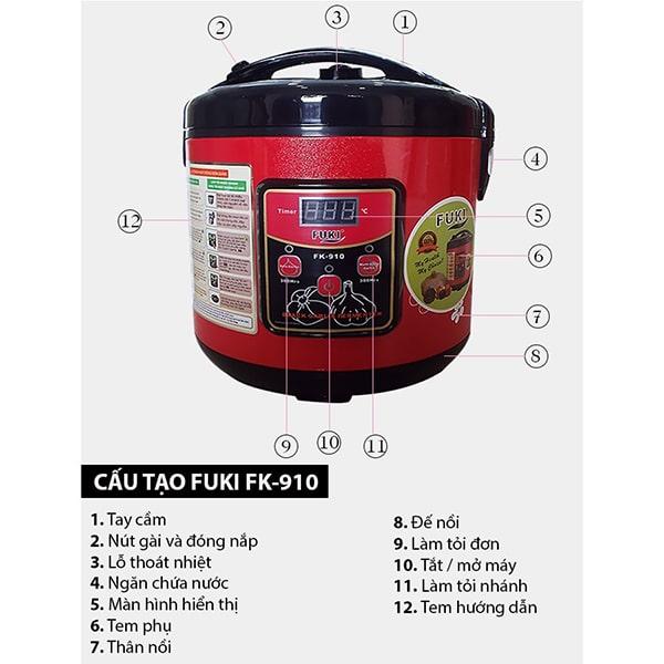 Nồi ủ tỏi đen fuki FK 910 nổi tiếng trên thị trường