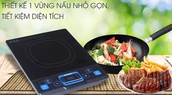 Bếp từ Philips HD4921 1 vùng nấu nhỏ gọn