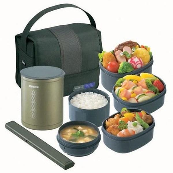 Cấu tạo hộp cơm giữ nhiệt gồm 3 lớp
