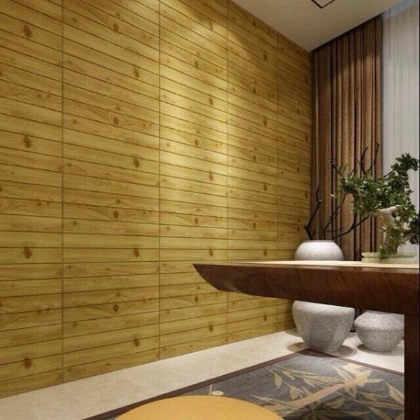 Xốp 3D giả vân gỗ dán tường