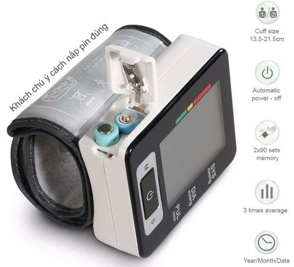 Máy đo cổ tay tự động công nghệ kỹ thuật số Medilife MBP-U60C có độ chính xác cực cao