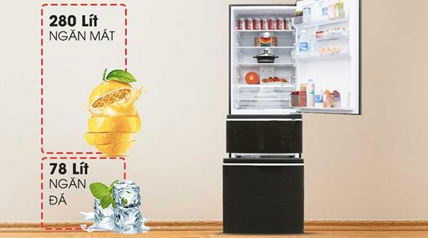 Tủ lạnh Inverter Mitsubishi MR-CX46EJ-BRW