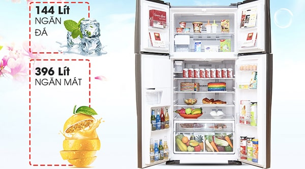 Tủ lạnh Inverter Hitachi R-W660FPGV3X-GBW