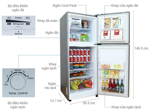 Tủ lạnh Inverter Samsung RT20HAR8DSA/SV (203L)