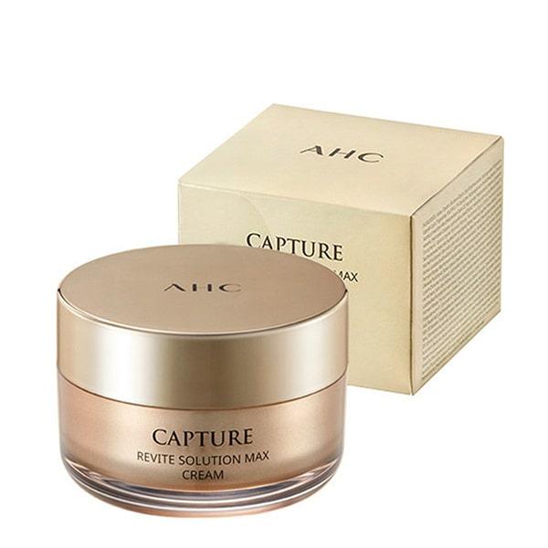 Kem dưỡng ẩm AHC Capture Revite Solution Max Cream (Màu Vàng)
