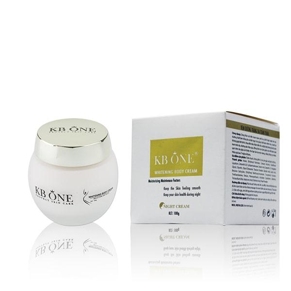 KBOne Whitening Body Cream giúp cân bằng sắc tố