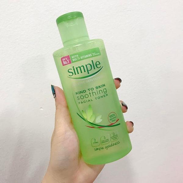 Review nước hoa hồng Simple