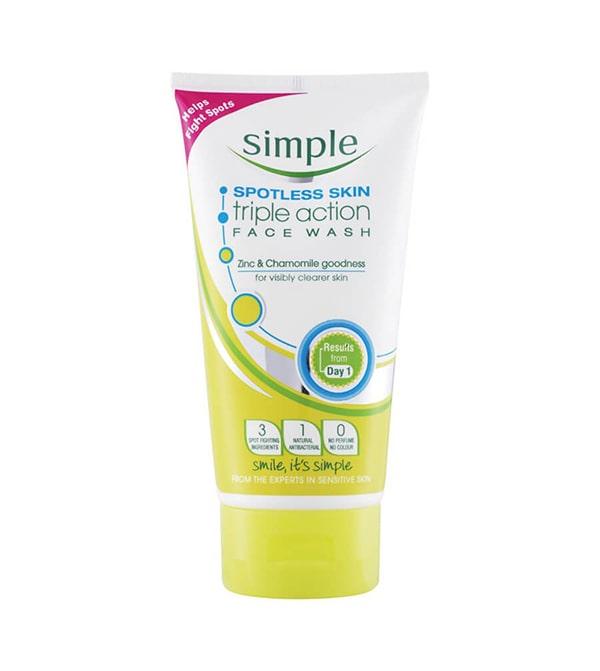 Sữa rửa mặt Simple Spotless Skin Triple Action Face Wash