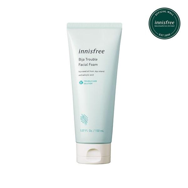 Sữa rửa mặt cho da mụn Innisfree Bija Trouble Facial Foam