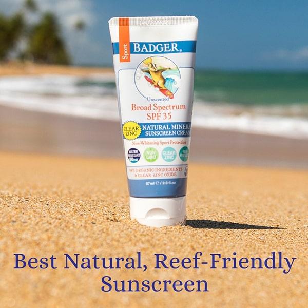 Kem chống nắng vật lý Badger Sport Sunscreen SPF 35