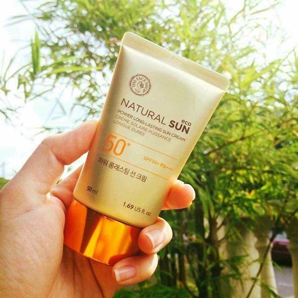 Kem chống nắng vật lý Natural Sun Eco Power Long Lasting Sun Cream