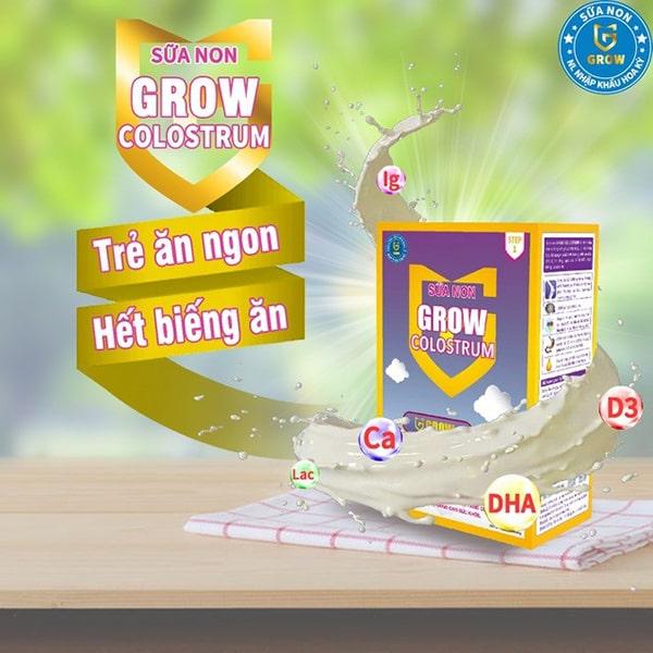 Sữa non cho bé Grow Colostrum