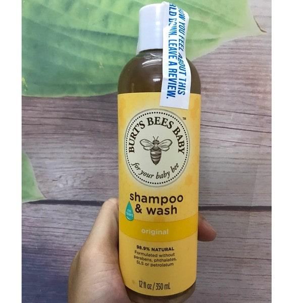 Sữa tắm gội cho bé Burt's Bees Baby Shampoo & Wash