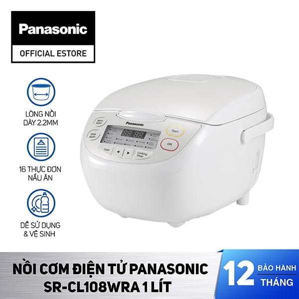 Nồi cơm điện tử Panasonic SR-CL108WRA 1L